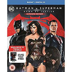 Batman V Superman/Man Of Steel Blu-ray (Tesco Exclusive)