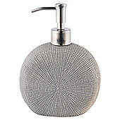 Tesco Grey Textured Ceramic Soap Dispenser