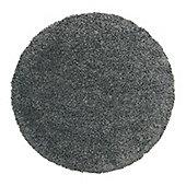 Frugs Snug 4cm Plain Circle Rug Black - 133X133 cm