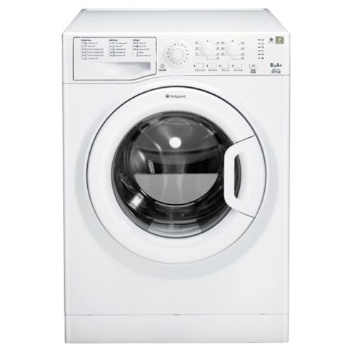 Hotpoint WMYL6351P Washing Machine, 6kg Wash Load, 1400 RPM Spin, A+ Energy Rating. White