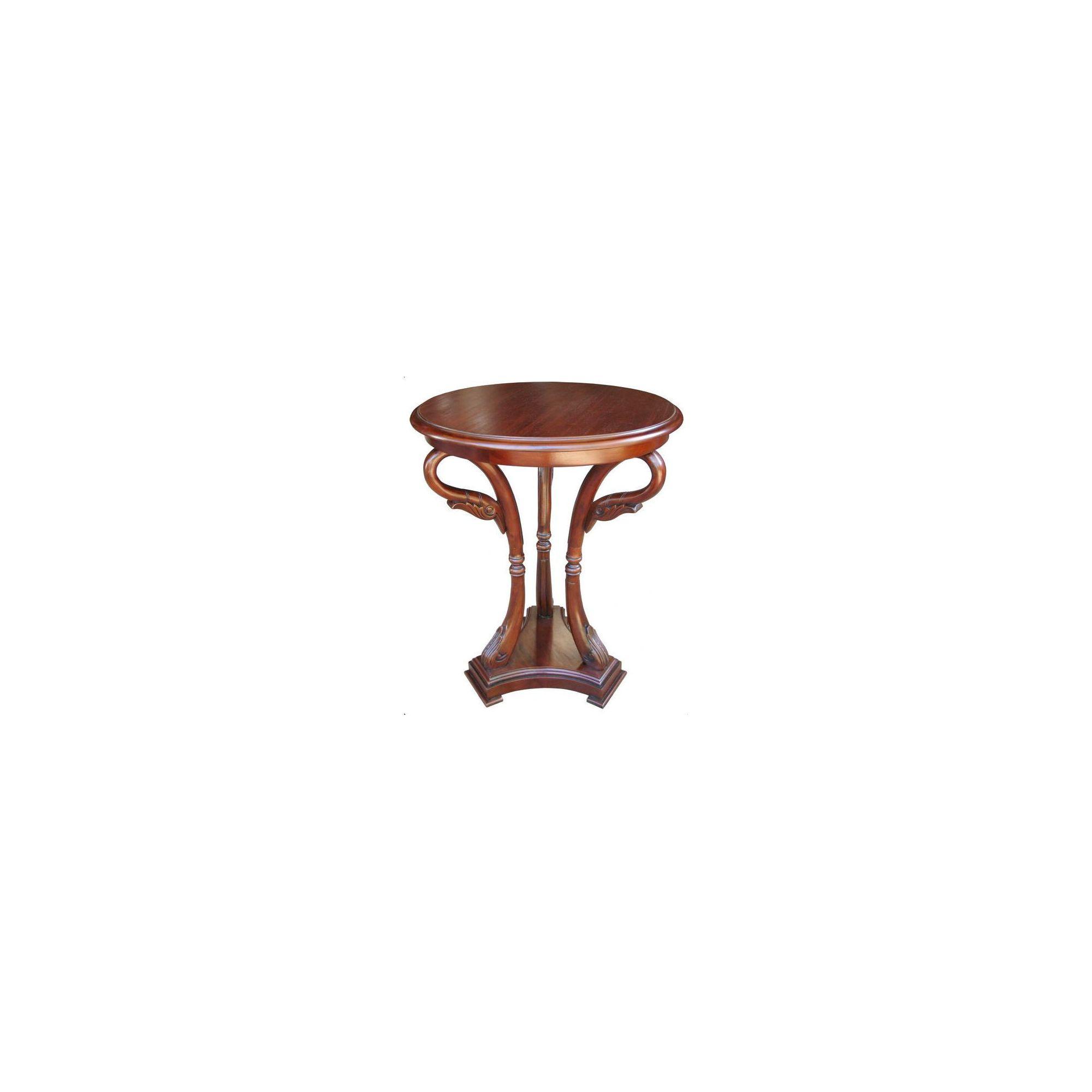 Lock stock and barrel Mahogany Swan Carved Side Table in Mahogany at Tesco Direct