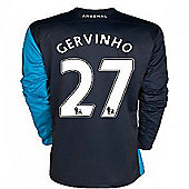 2011-12 Arsenal Long Sleeve Away Shirt (Gervinho 27) - Navy
