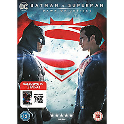 Batman V Superman/Man Of Steel DVD (Tesco Exclusive)