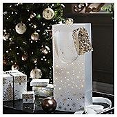 Gold Star Christmas Bottle Bag
