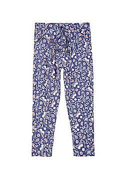 F&F Butterfly Floral Harem Pants - Blue & Pink