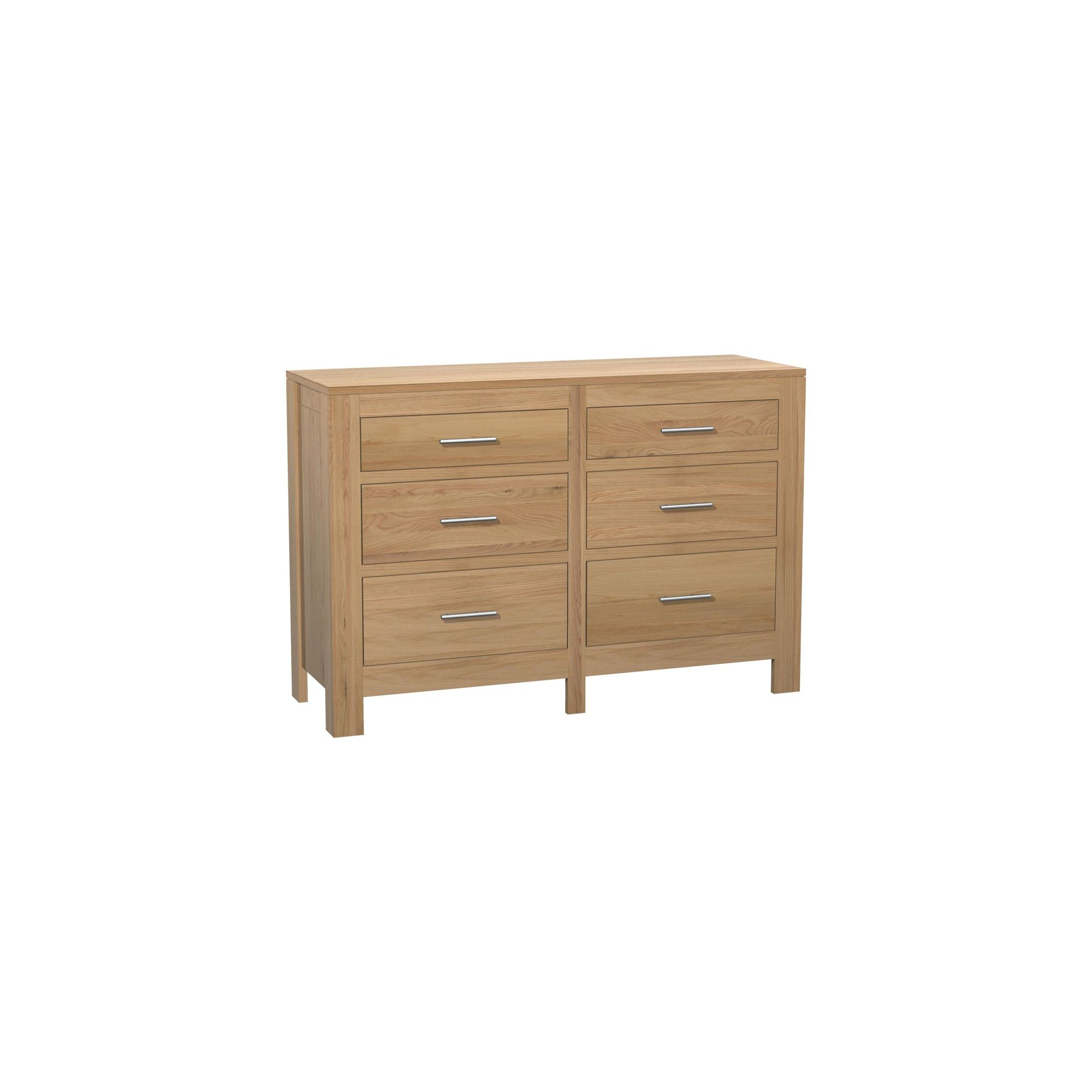 Kelburn Furniture Milano 6 Drawer Chest in Clear Satin Lacquer at Tesco Direct