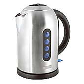 Home Essence 360 Rapid Boil 1.7 Litre Cordless Kettle in Brushed Stainless Steel