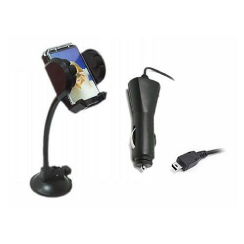 iTALKonline In Car Universal Suction Mount Holder & Car Charger - For Nokia 6300