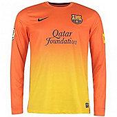 2012-13 Barcelona Long Sleeve Away Football Shirt - Orange