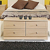 Welcome Furniture Warwick 4 Drawer Bed Box - Light Oak