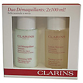 Clarins Cleansing Milk + Toning Lotion Duo Pack Dry Skin