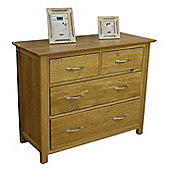 Moda Solid Oak 2 Over 2 Chest of Drawers