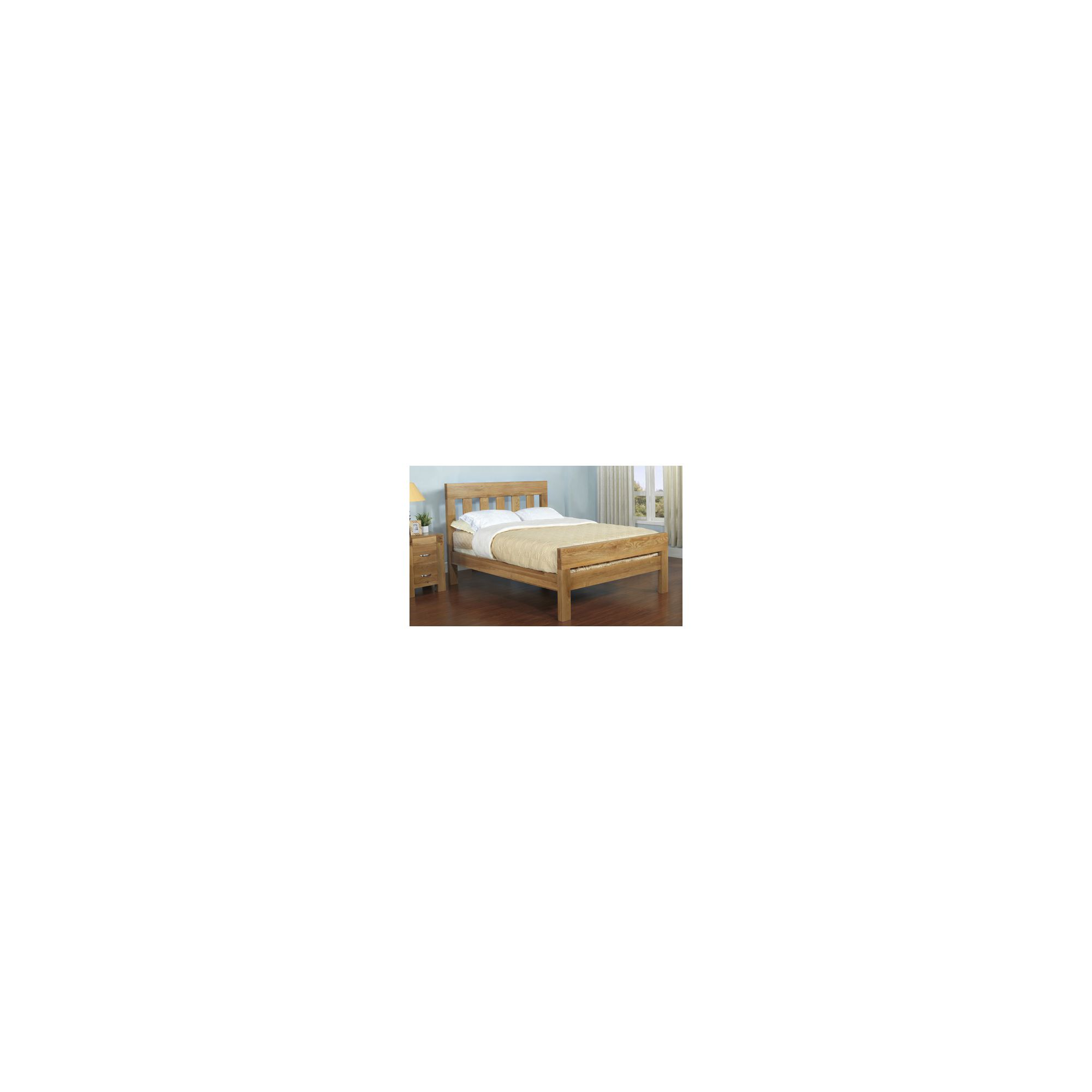 Hawkshead Rustic Oak Blonde Bed - King at Tesco Direct
