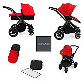 ickle Bubba V2 Stomp AIO Travel System with Mosquito Net - Red (Black Chassis)