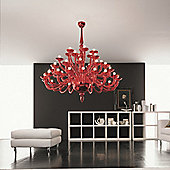 De Majo 8000 Chandelier - Red