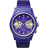 Triwa Unisex Chronograph Purple Plastic Bracelet Watch DCAC107