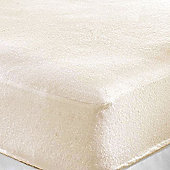 Single Cot Bed Terry Fitted Sheet (Cream)