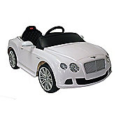Kids Electric Car Bentley Continental GT 12 Volt White Gloss