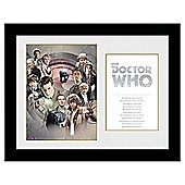Doctor Who The Doctors Framed Print, 30x40cm