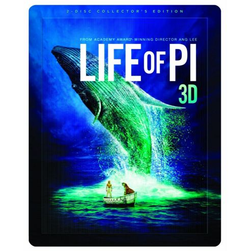 Life Of Pi - Limited Edition Steelbook (Blu-Ray 3D + Blu-Ray + Digital Copy)
