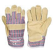 Silverline Pigskin Rigger Gloves Large