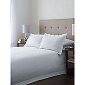 Hotel Collection Satin Stripe Superking Duvet Cover Set In White