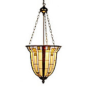 Arcade 41cm Tiffany Three Light Hanging Lantern