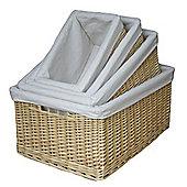 Wicker Valley Lined Storage Basket (Set of 4)