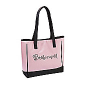 Bridesmaid Pink Wedding Tote Bag
