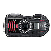 "Ricoh Optio WG-4 Digital Camera, Black, 16 MP, 4x Optical Zoom, 3"" LCD Screen, Waterproof, GPS"