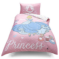Disney Princess Cinderella Single Duvet Set TESCO EXCLUSIVE