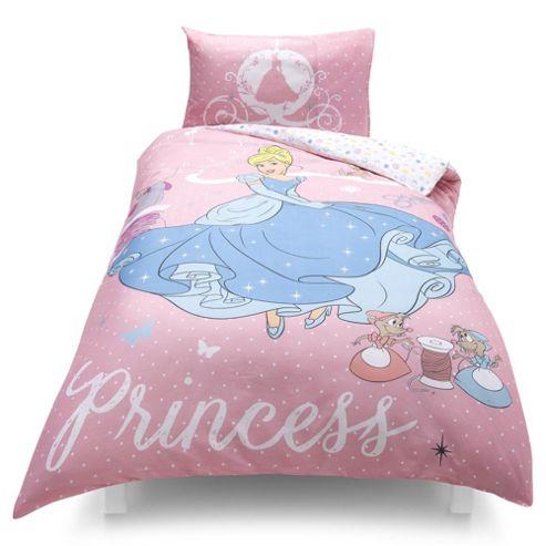Disney Princess Cinderella Duvet Set, Single TESCO EXCLUSIVE
