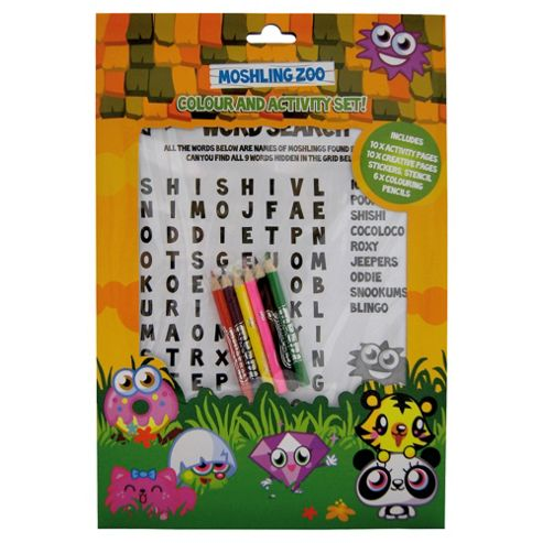 Moshling Zoo Colour And Activity Set
