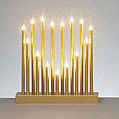 Heart Shape Christmas Candle Bridge - 15 Lights