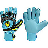 Uhlsport Eliminator Soft Supportframe Junior Goalkeeper Gloves - Blue