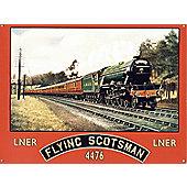 Vintage Railway Advert The Flying Scotsman Tin Sign