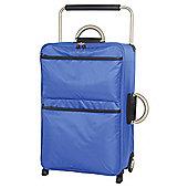 IT Luggage World's Lightest Suitcase, Blue Medium