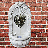 Lions Mask Wall Hanging Water Feature