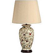 Tall Birds Amongst the Blossom Ceramic Table Lamp
