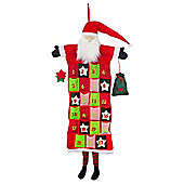 Large Hanging Fabric Father Christmas Advent Calendar