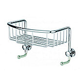 Sanwood Provence Basket in Chrome with 2 Hooks