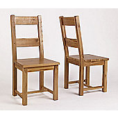 Ametis Westbury Reclaimed Oak Timber Dining Chair (Set of 2)