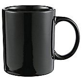 Tesco Black Plain Stoneware Mug Single