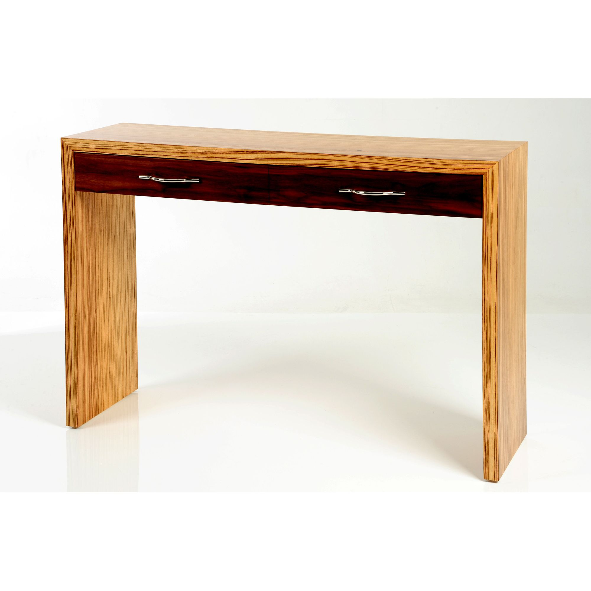 Trefurn Linear Occassional Table - Zebrano and Black Walnut at Tesco Direct
