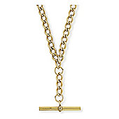 9ct Light Yellow Gold - Albert Curb Chain - 4.9mm gauge