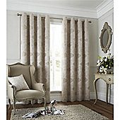 Catherine Lansfield Les sites de Paris Curtains 66x72 - Natural