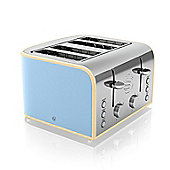Swan 4 Slice Toaster - Blue