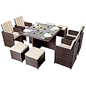Luxan WGF-218 Port Royal Prestige Brown Cube Table and Chairs - Seats 4