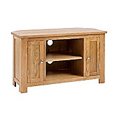 Lansdown Oak Corner TV/Video Unit