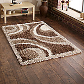 Think Rugs Vista Brown Rug - Runner 220cm L x 60cm W